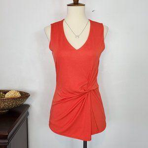 Ann Taylor Classic Red Sleeveless Career Top, XXSP